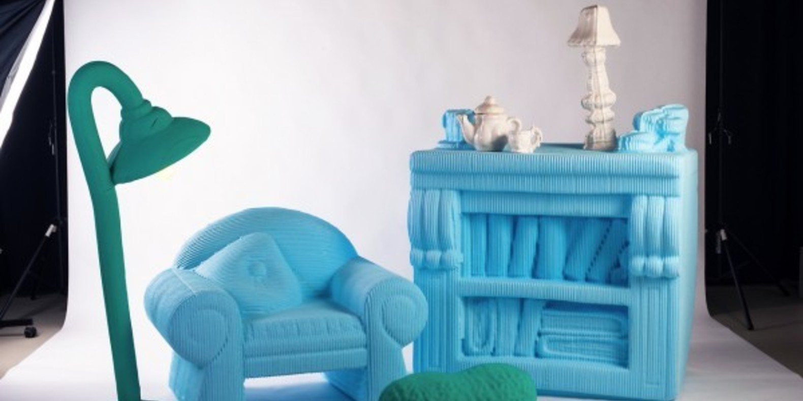 Doll furniture printed in 3D and in real size