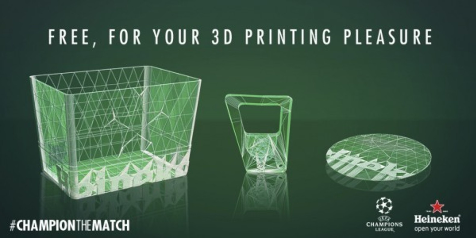 Heineken offers a 3D printed support kit to enjoy the Champions League