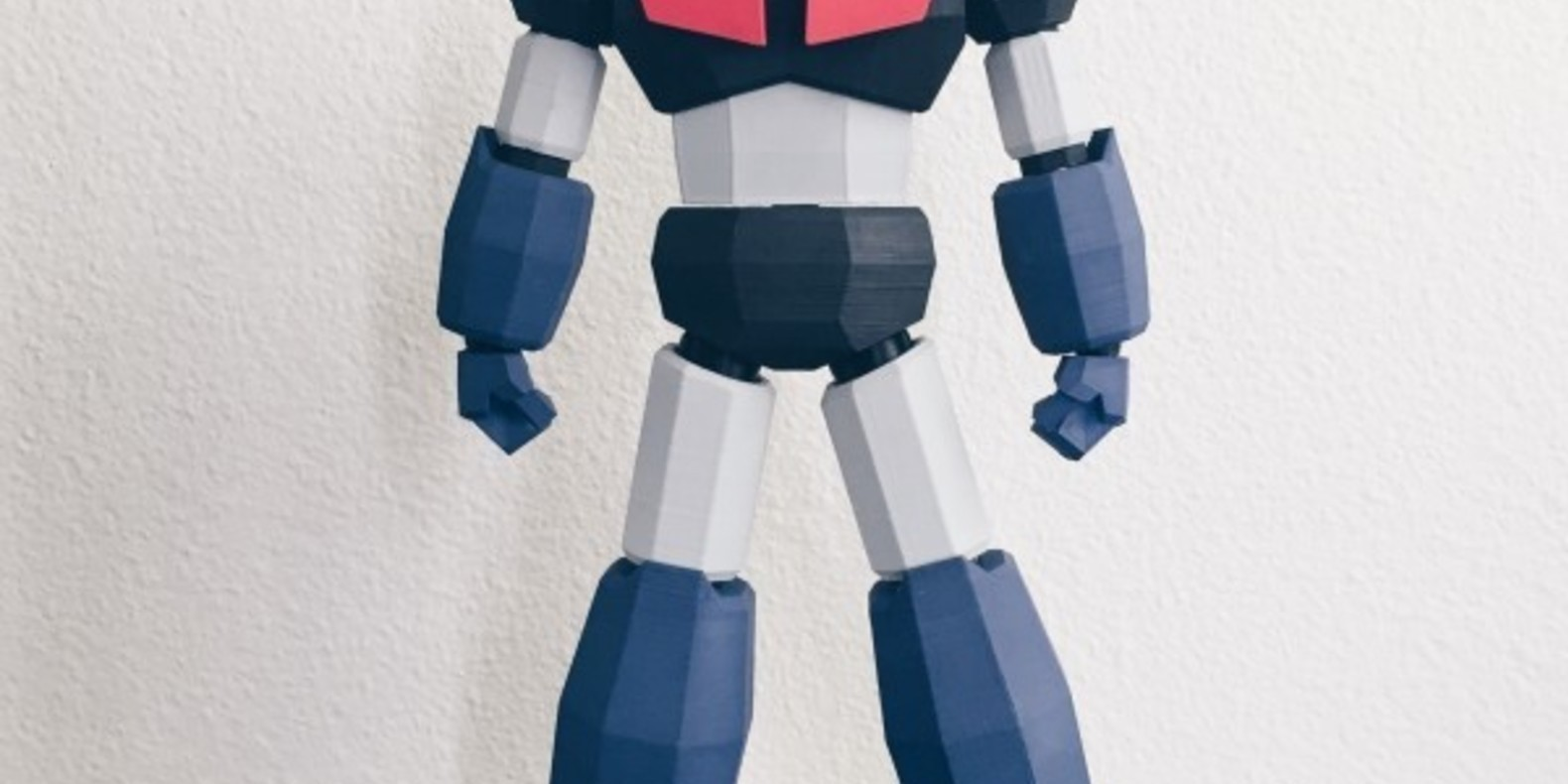 Low Poly Mazinger Z printed in 3D