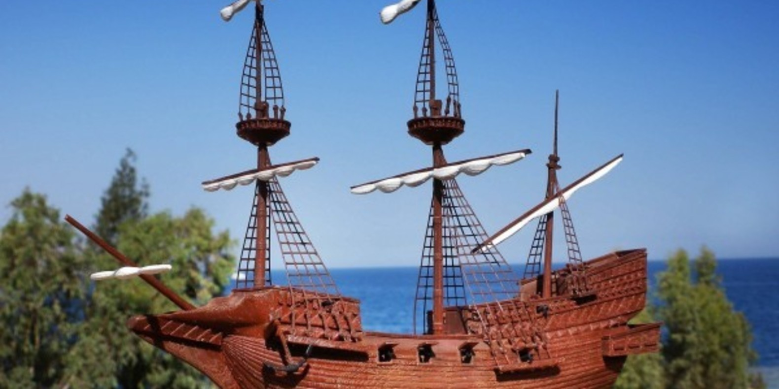 The Sir Francis Drake galleon printed in 3D