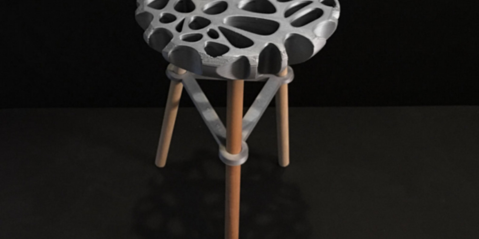The stool printed in 3D