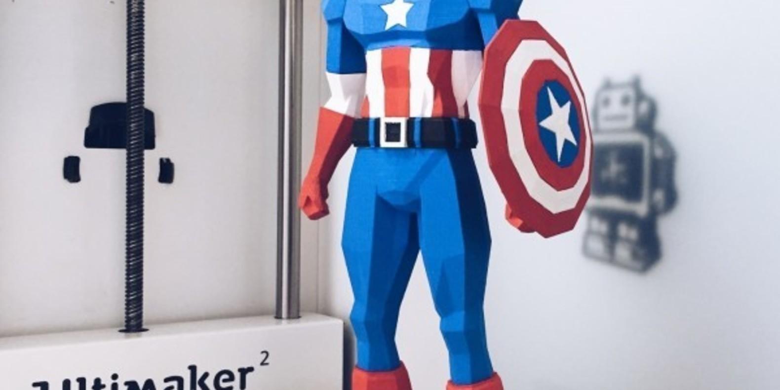 Captain America imprimé en 3D par BigLilDesign