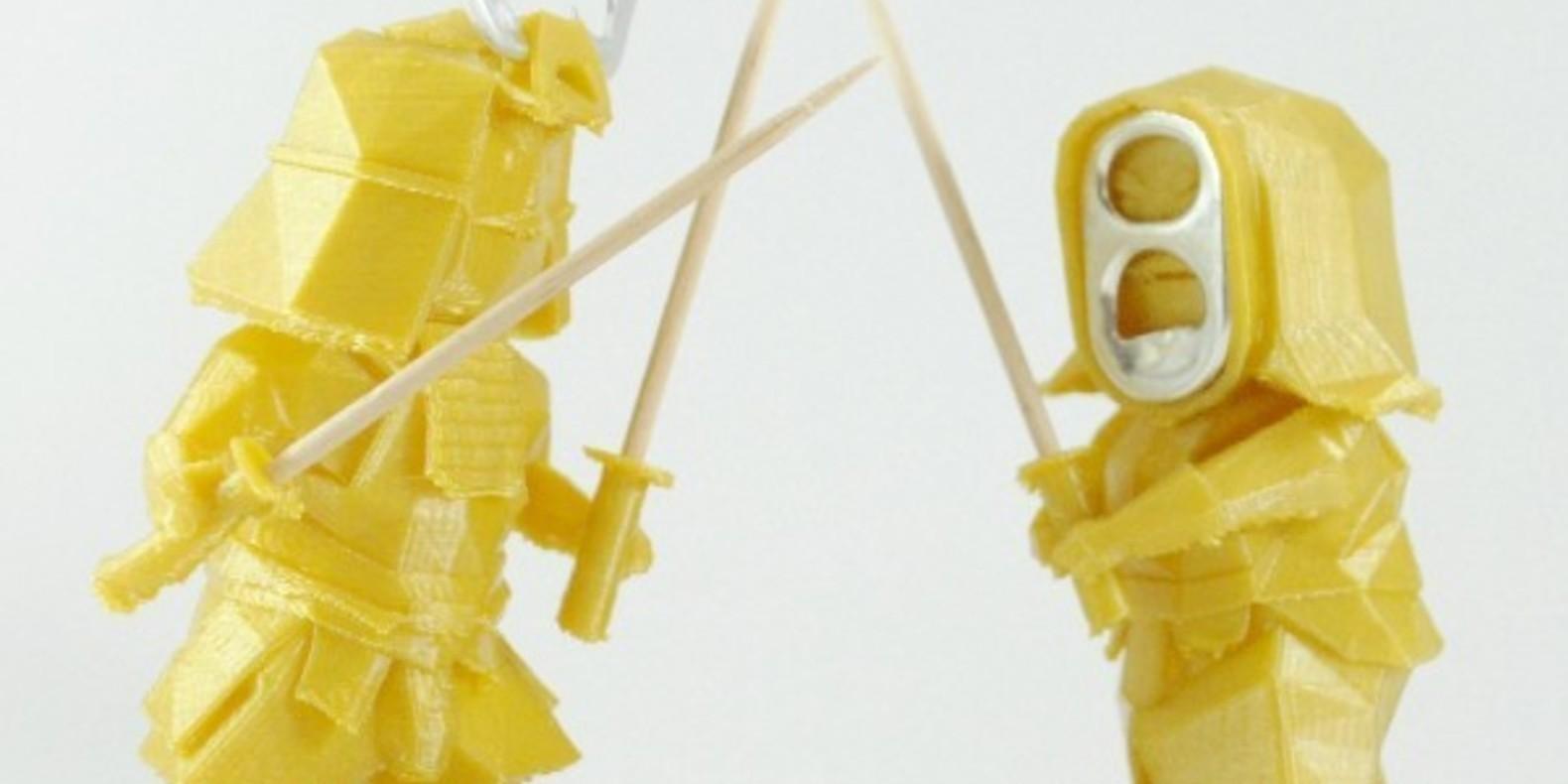 Des guerriers ninja imprimés en 3D