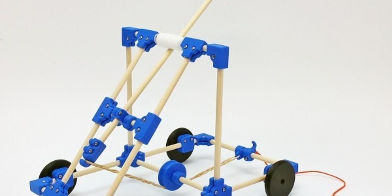 Une catapulte imprimée en 3D