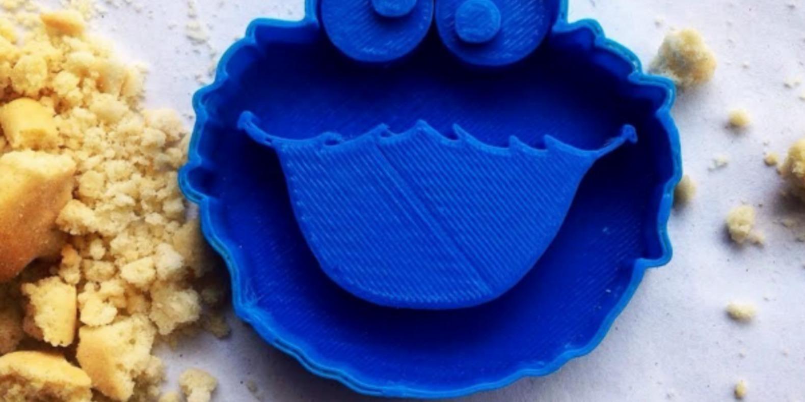 Des emporte-pièces Cookie Monster imprimés en 3D