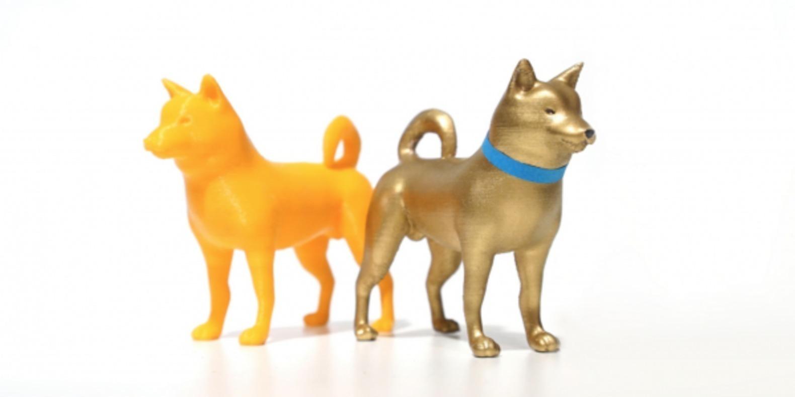 Un Shiba Inu imprimé en 3D