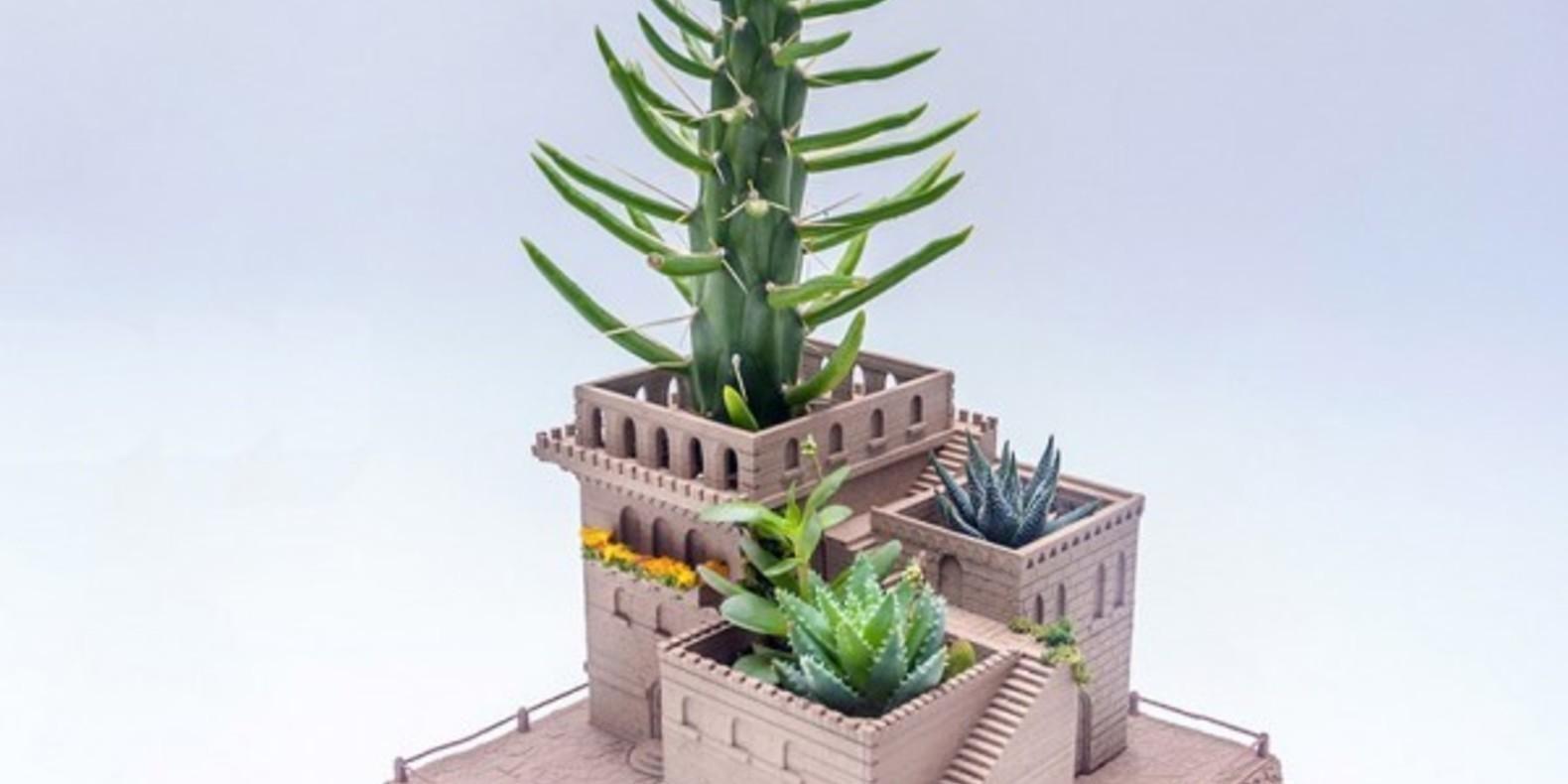 Un pot architectural pour cactus imprimé en 3D