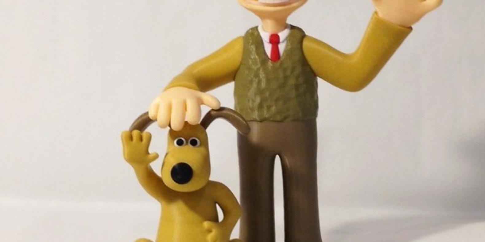 Wallace & Gromit imprimés en 3D