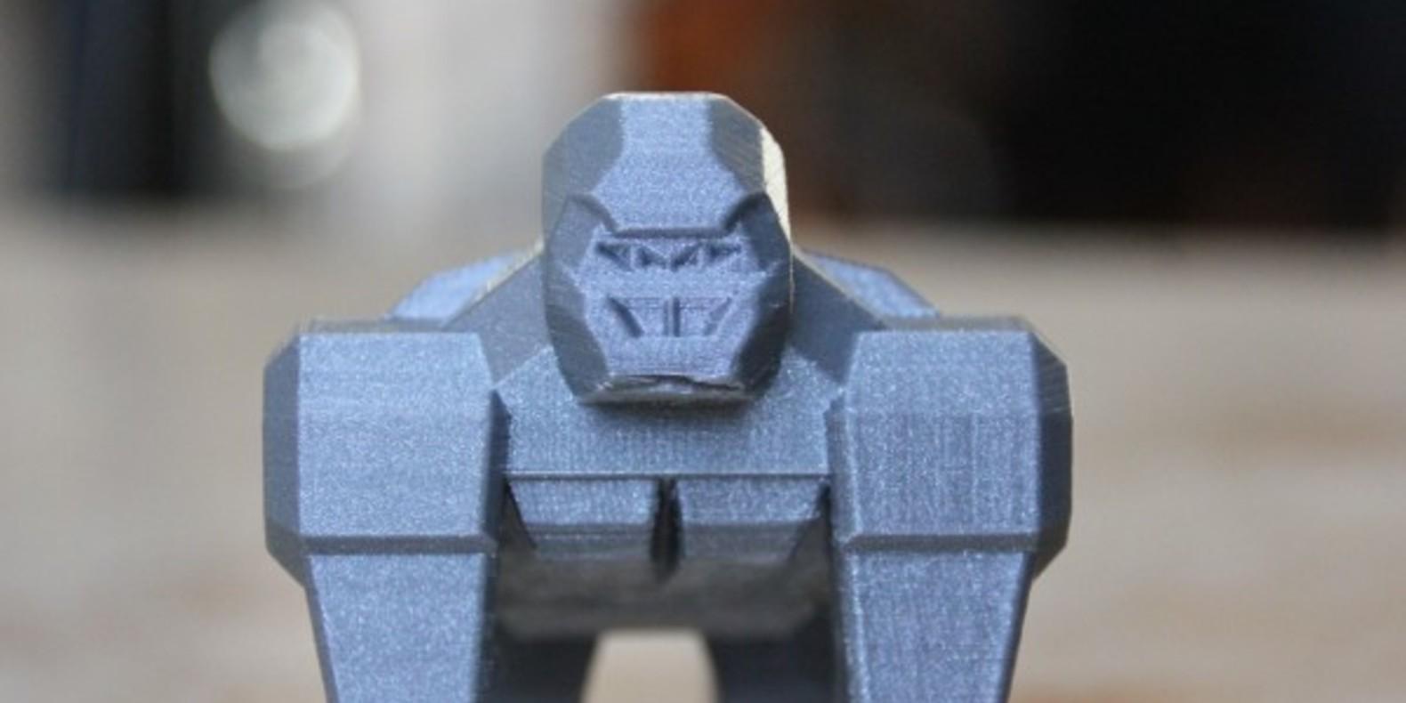 Un gorille super sympa à imprimer en 3D