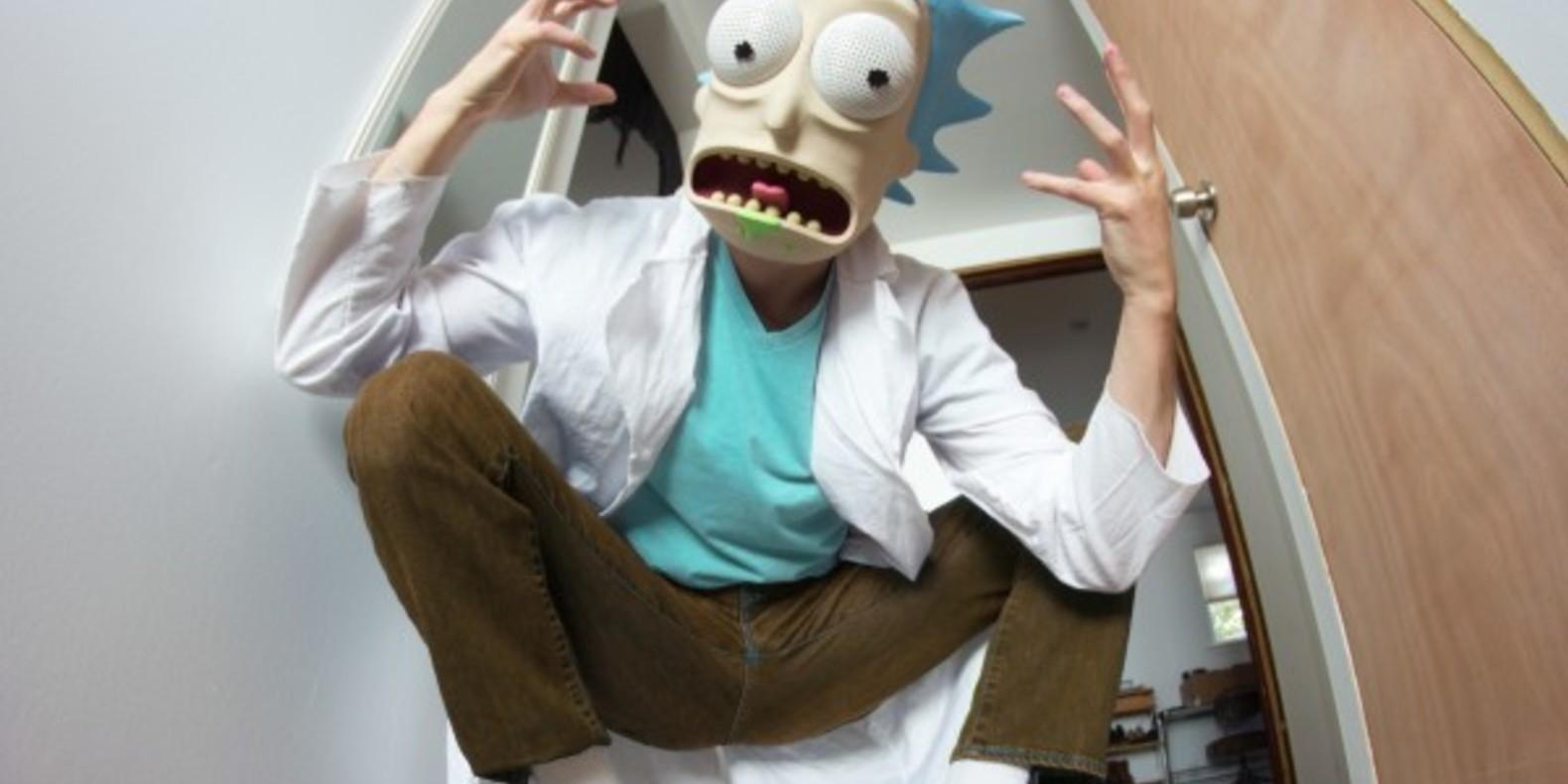 Le masque de Rick Sanchez imprimé en 3D