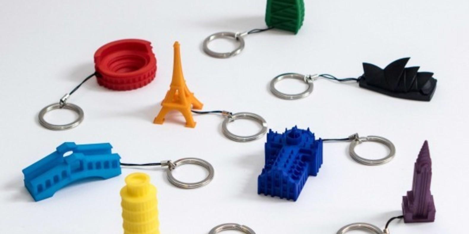 Porte-clé de monuments imprimé en 3D