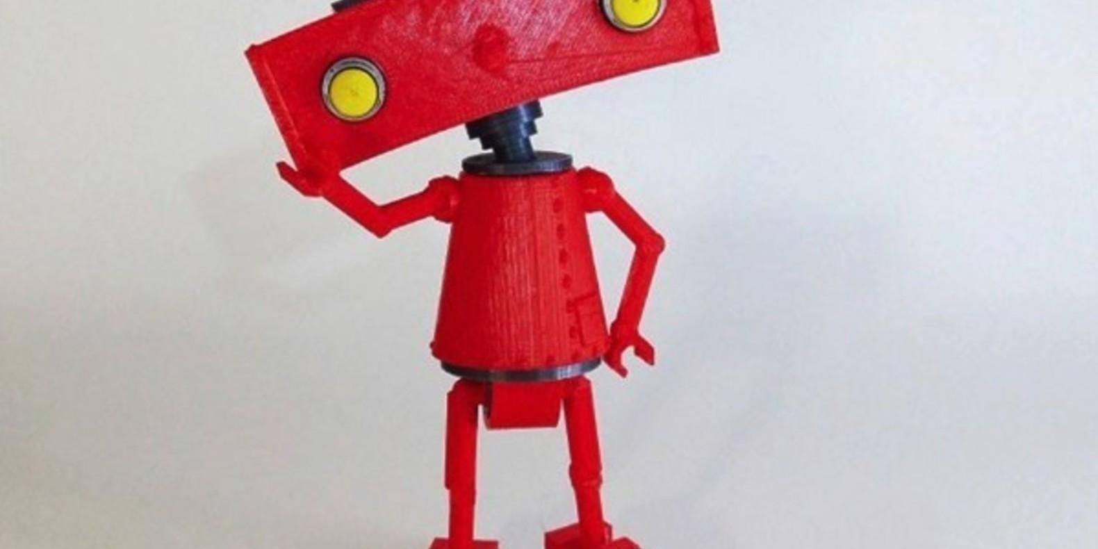 Le logo de Bad Robot en impression 3D