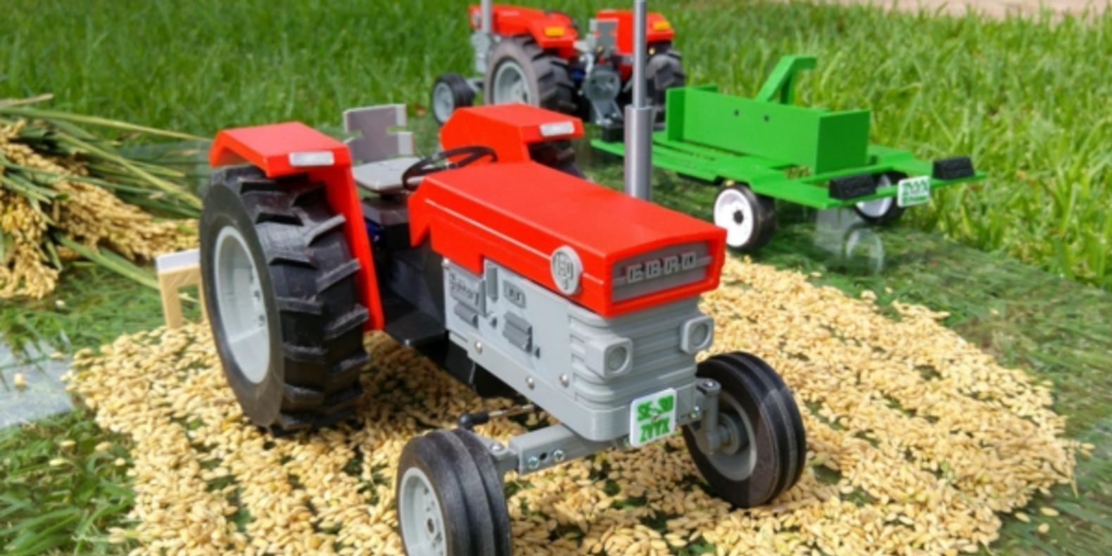 Un tracteur télécommandé imprimé en 3D