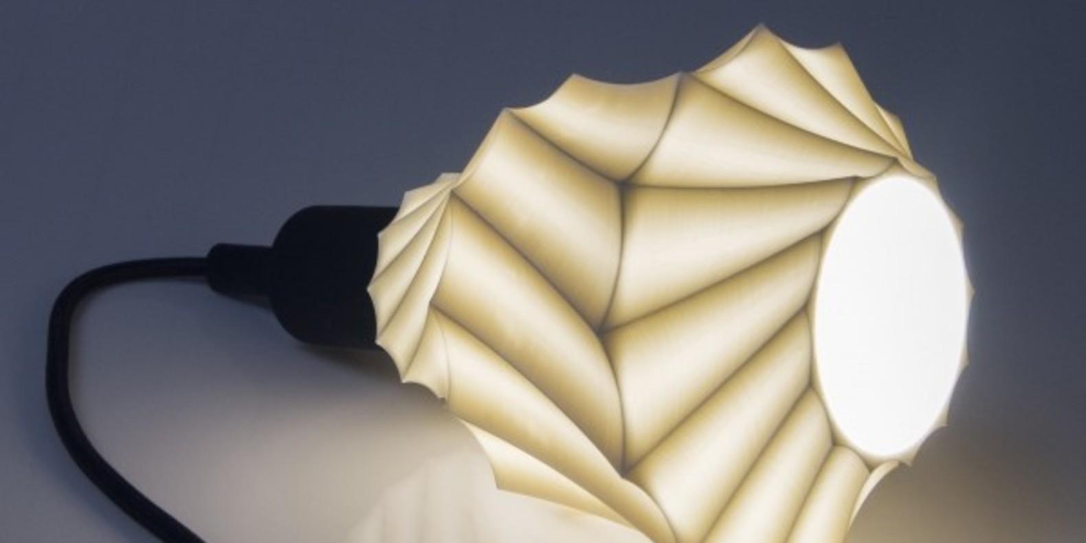 Une lampe imprimée en 3D inspirée de la forme d'un coquillage