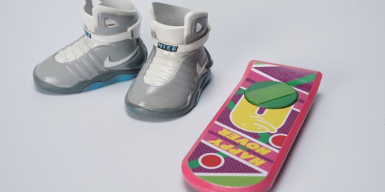Les Nikes de Retour Vers Le Futur et l'Overboard imprimés en 3D