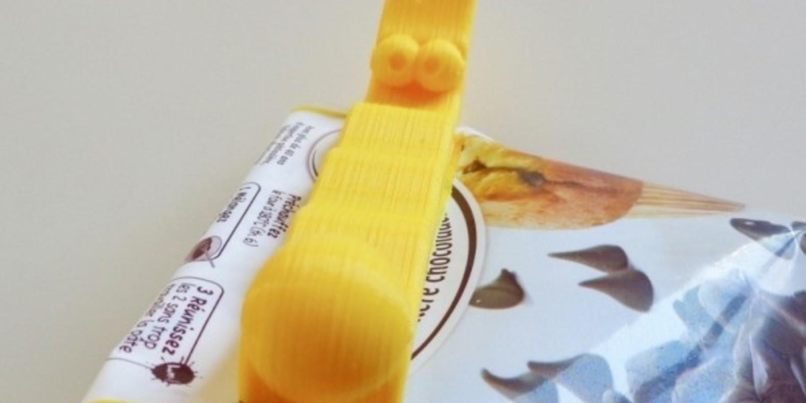 Une pince à sachet imprimée en 3D