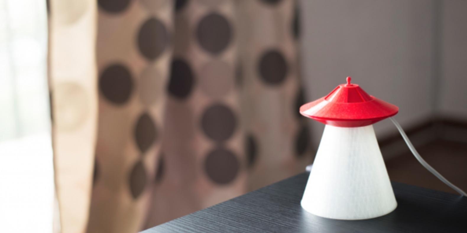 La lampe OVNI imprimée en 3D