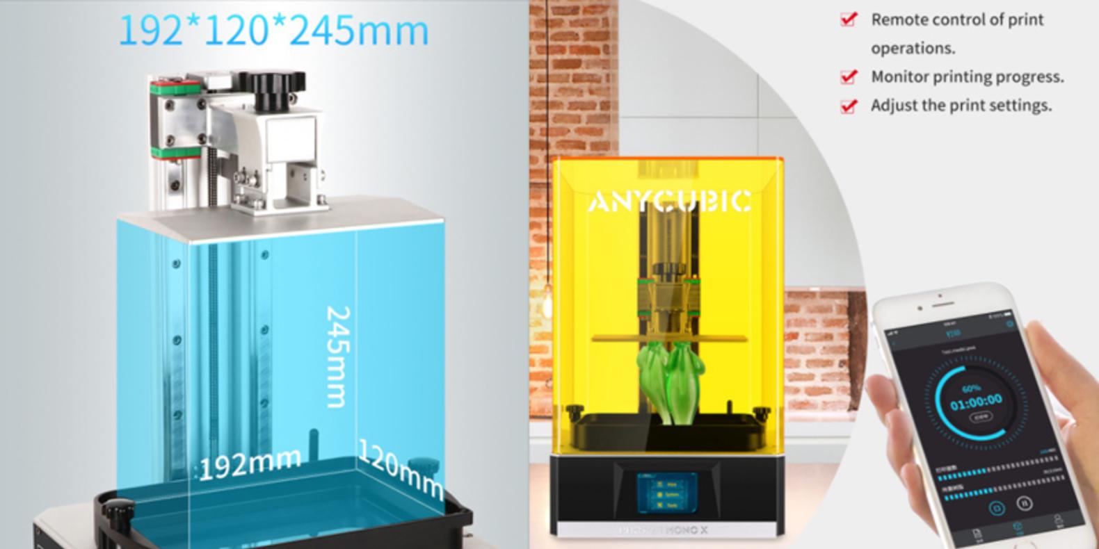 Anycubic Photon Mono X apporte un grand volume construit et une vitesse d'impression rapide avec un écran LCD monochrome
