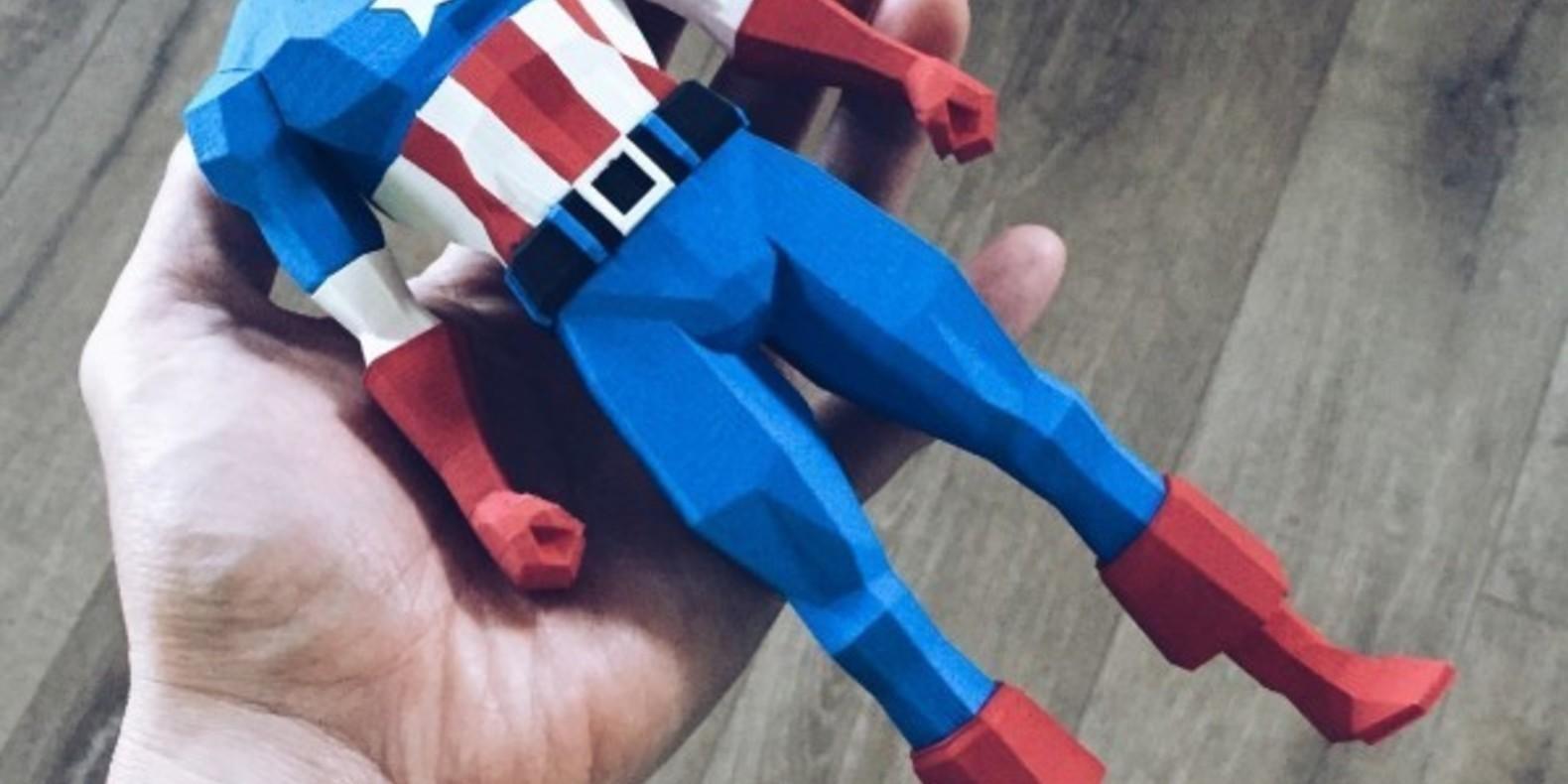 Capitaine america biglildesign wesley millora cults fichier 3D impression 3D Captain America imprimé en 3D