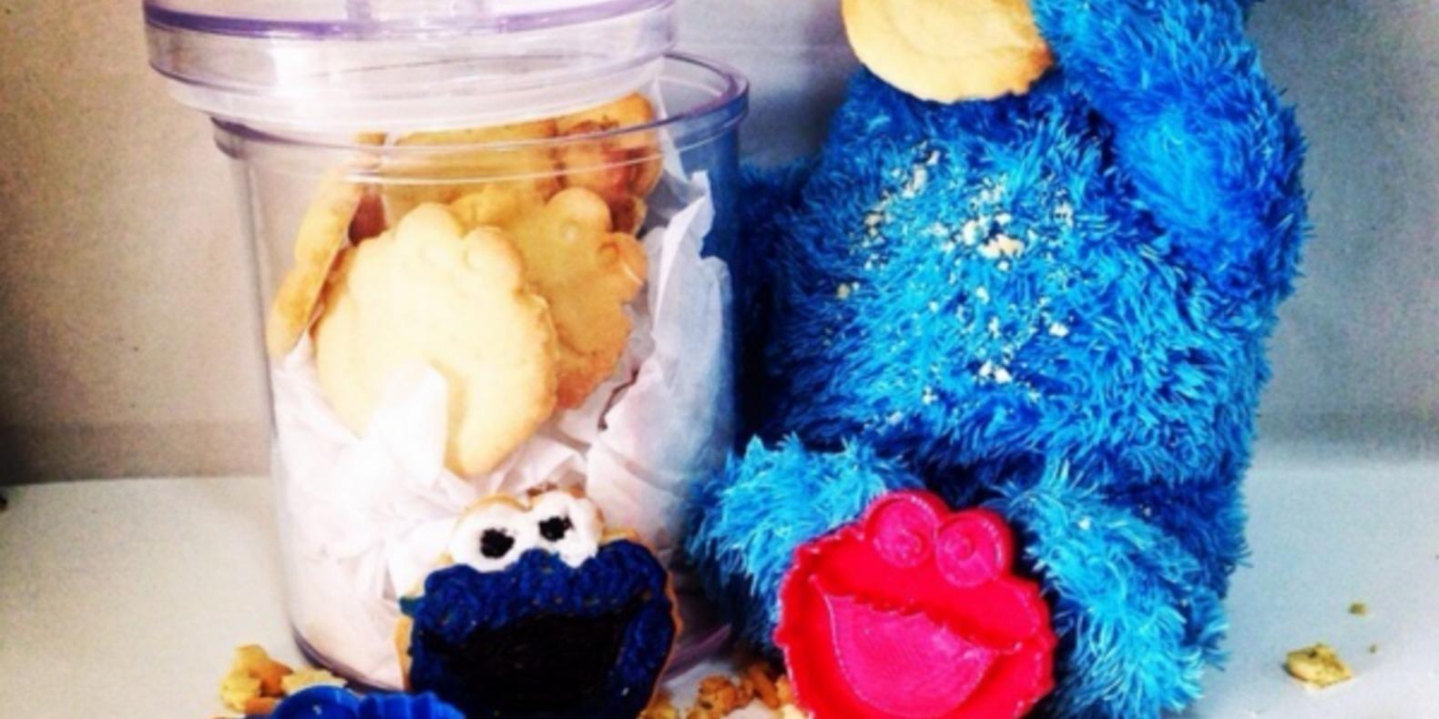 cookie monster emporte pièce cults 3D fichier 3D impression 3D patisserie 2