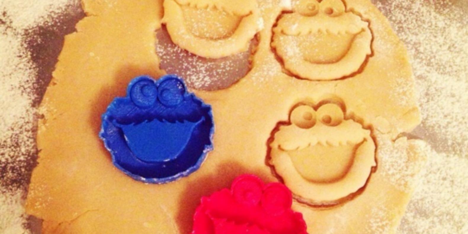 cookie monster emporte pièce cults 3D fichier 3D impression 3D patisserie 3