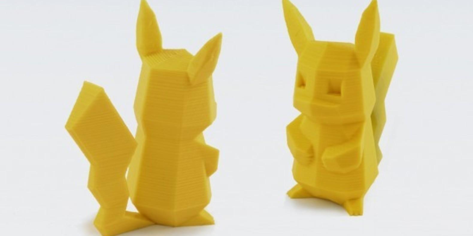 Pokemon go iphone 3D printing impression cults 3D fichier 3D lanceur figurine pikachu 1