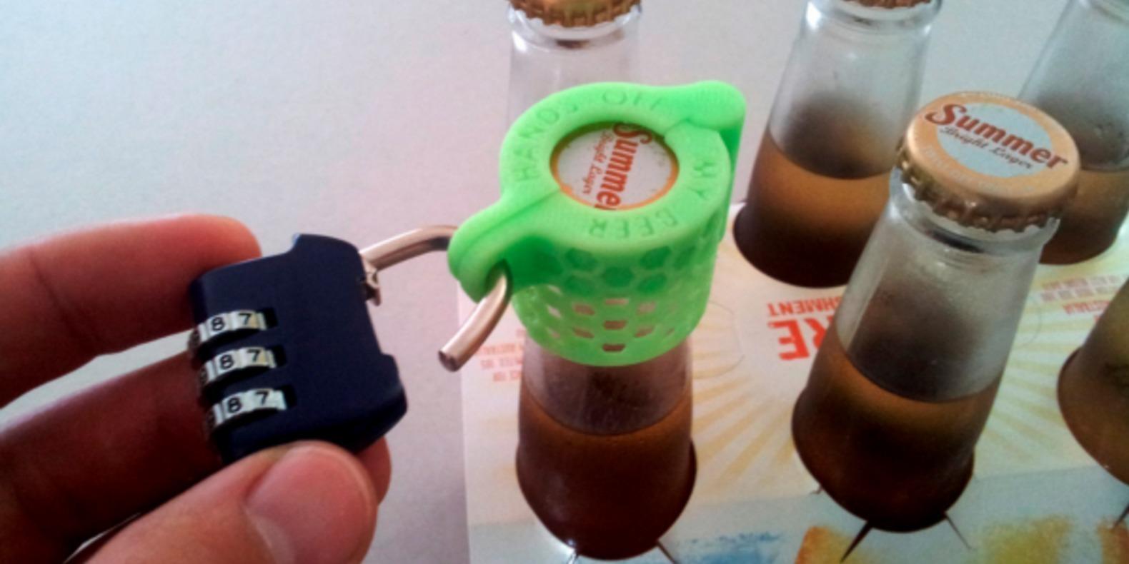 protège bière cadenas edditive james novak cults fichier 3D 1