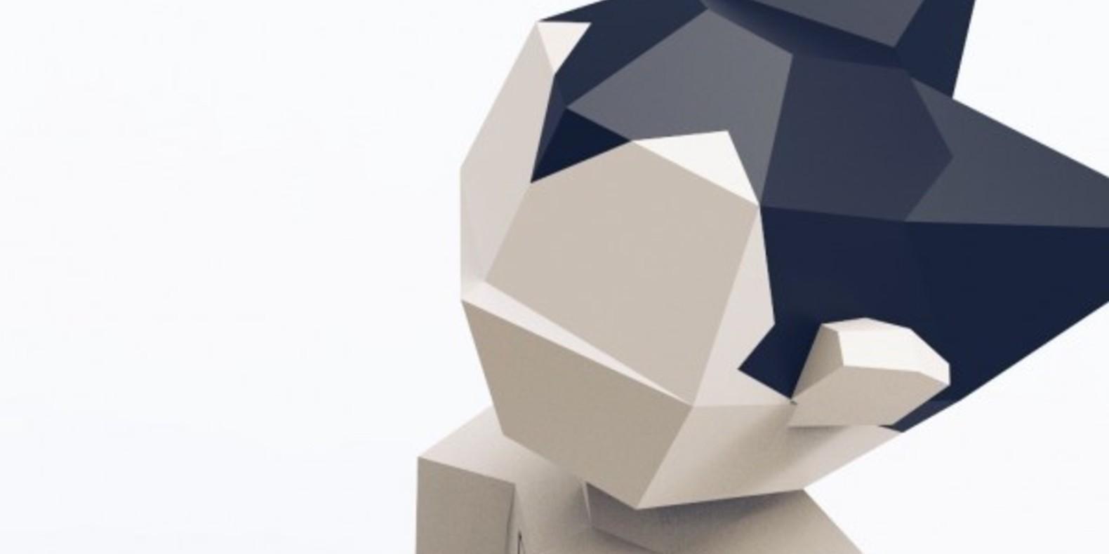 Astro le petit robot Astroboy manga 3D printing fichier 3D low poly 3D model impression 3D imprimante 3D modèle 3D