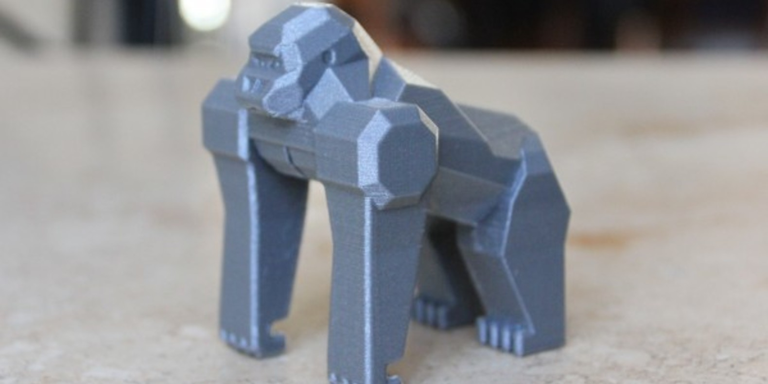 gorille imprimé en 3D 3D printed gorilla fichier 3D objet 3D modèle 3D 3D file 3D model