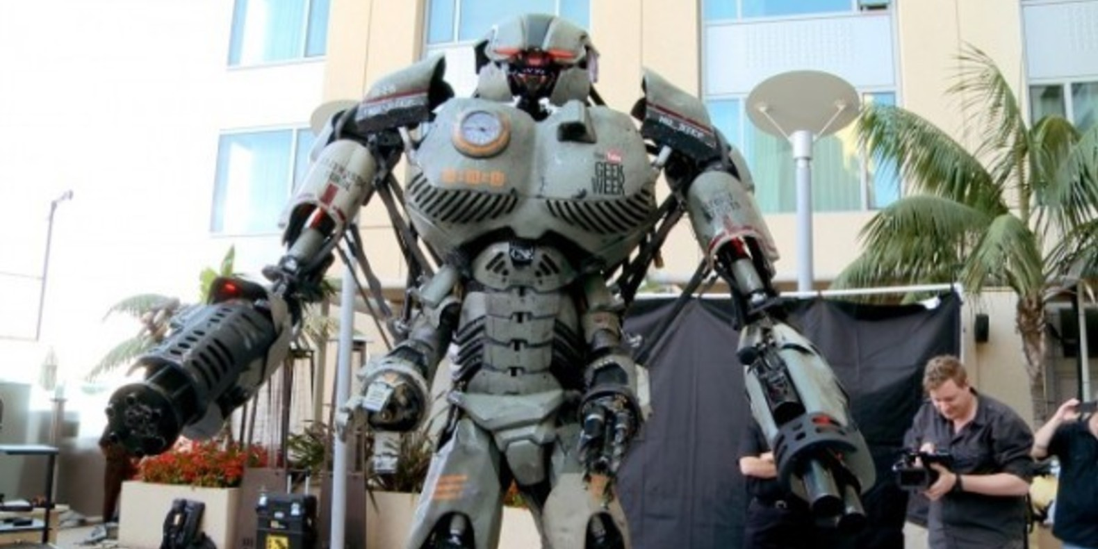 wired mech comic con san diego 2013 3D printed robot impression imprimante fichier cults 1