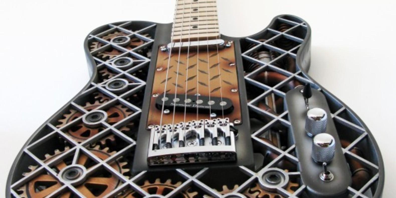 steampunk olaf diegel fichier 3D cults 3D printed printer guitare steampunk imprimée en 3D