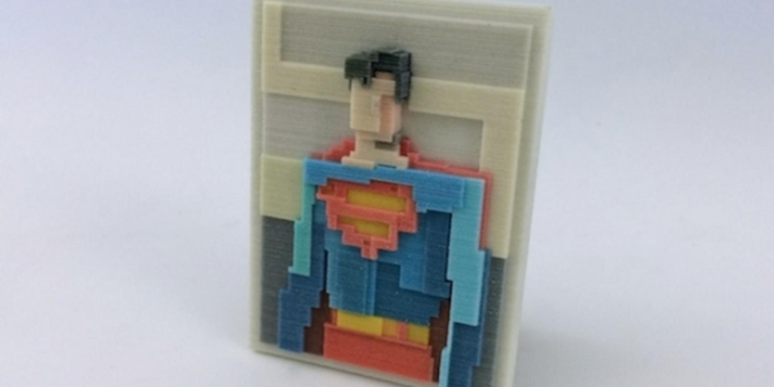 adam lister isaac budmen 8 Bits, 3 Dimensions art 3D printing printed cults3D fichier 3D designer artist ETR breaking bad superman mona lisa