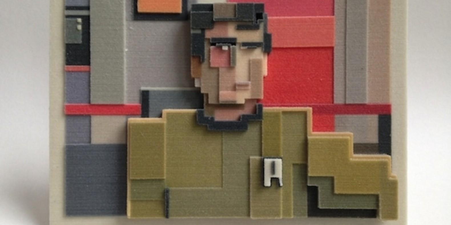adam lister isaac budmen 8 Bits, 3 Dimensions art 3D printing printed cults3D fichier 3D designer artist ETR breaking bad superman mona lisa3