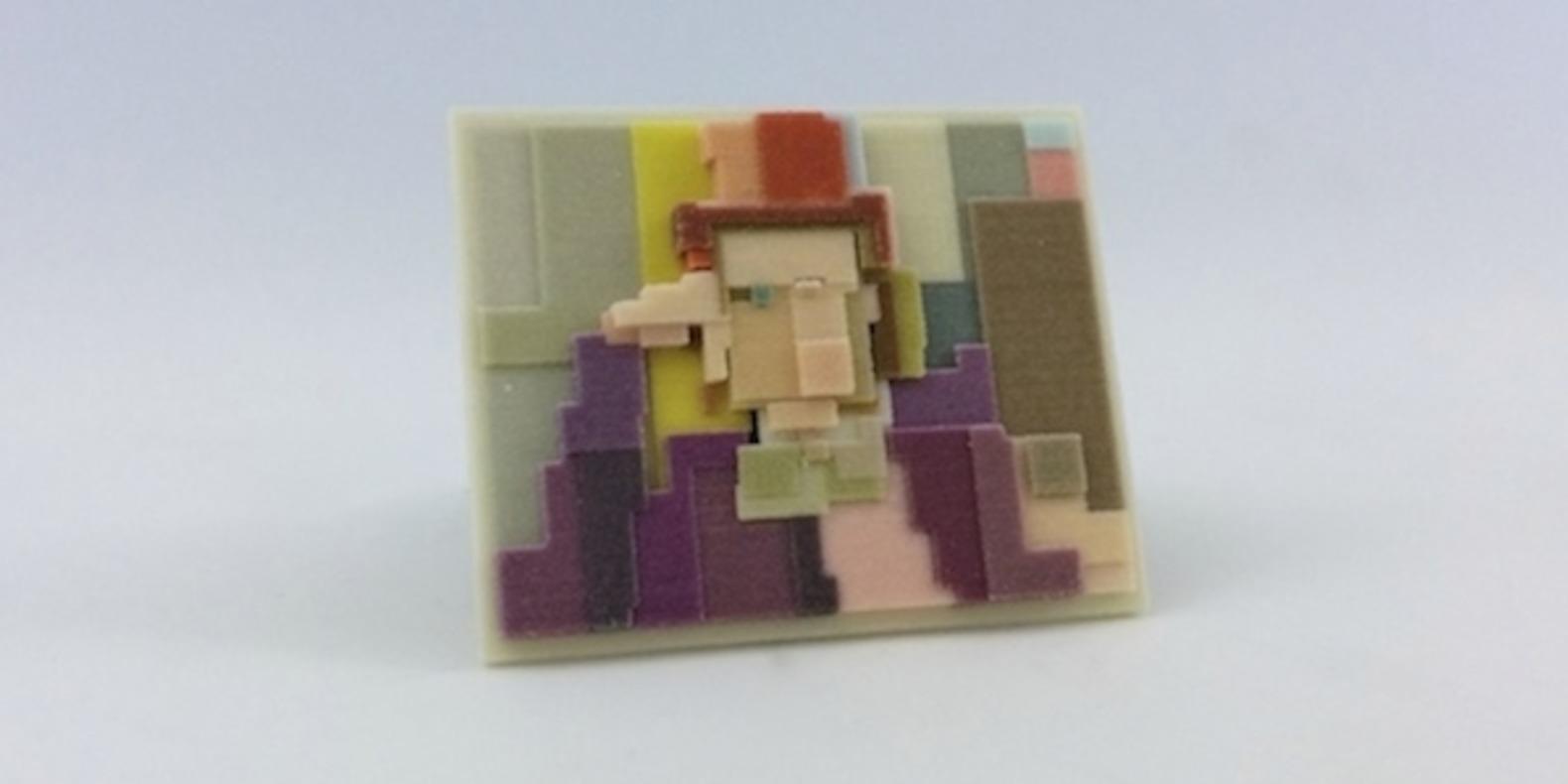adam lister isaac budmen 8 Bits, 3 Dimensions art 3D printing printed cults3D fichier 3D designer artist ETR breaking bad superman mona lisa4