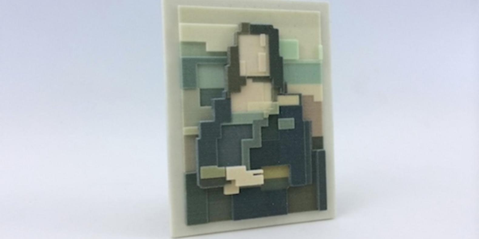 adam lister isaac budmen 8 Bits, 3 Dimensions art 3D printing printed cults3D fichier 3D designer artist ETR breaking bad superman mona lisa6