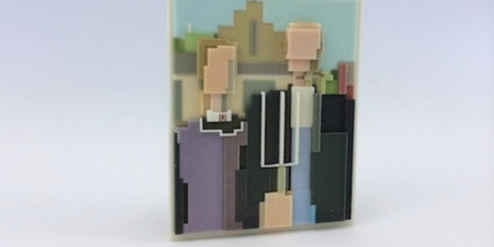 adam lister isaac budmen 8 Bits, 3 Dimensions art 3D printing printed cults3D fichier 3D designer artist ETR breaking bad superman mona lisa9
