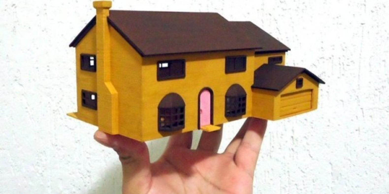 3D Printed Simpson House Cults 1 maison des Simpson