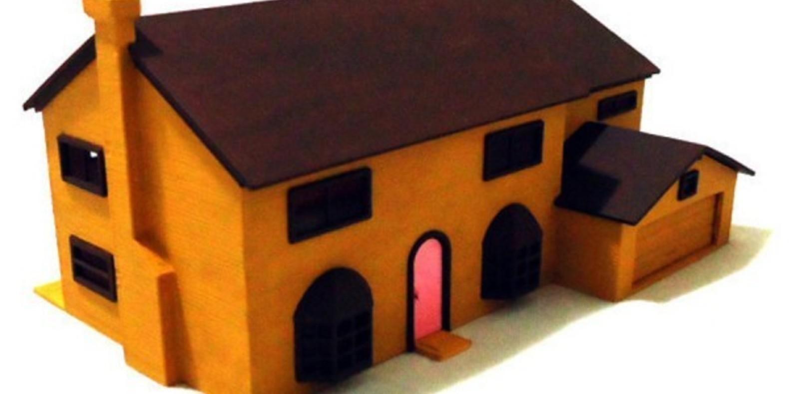 3D Printed Simpson House Cults 2 maison des Simpson