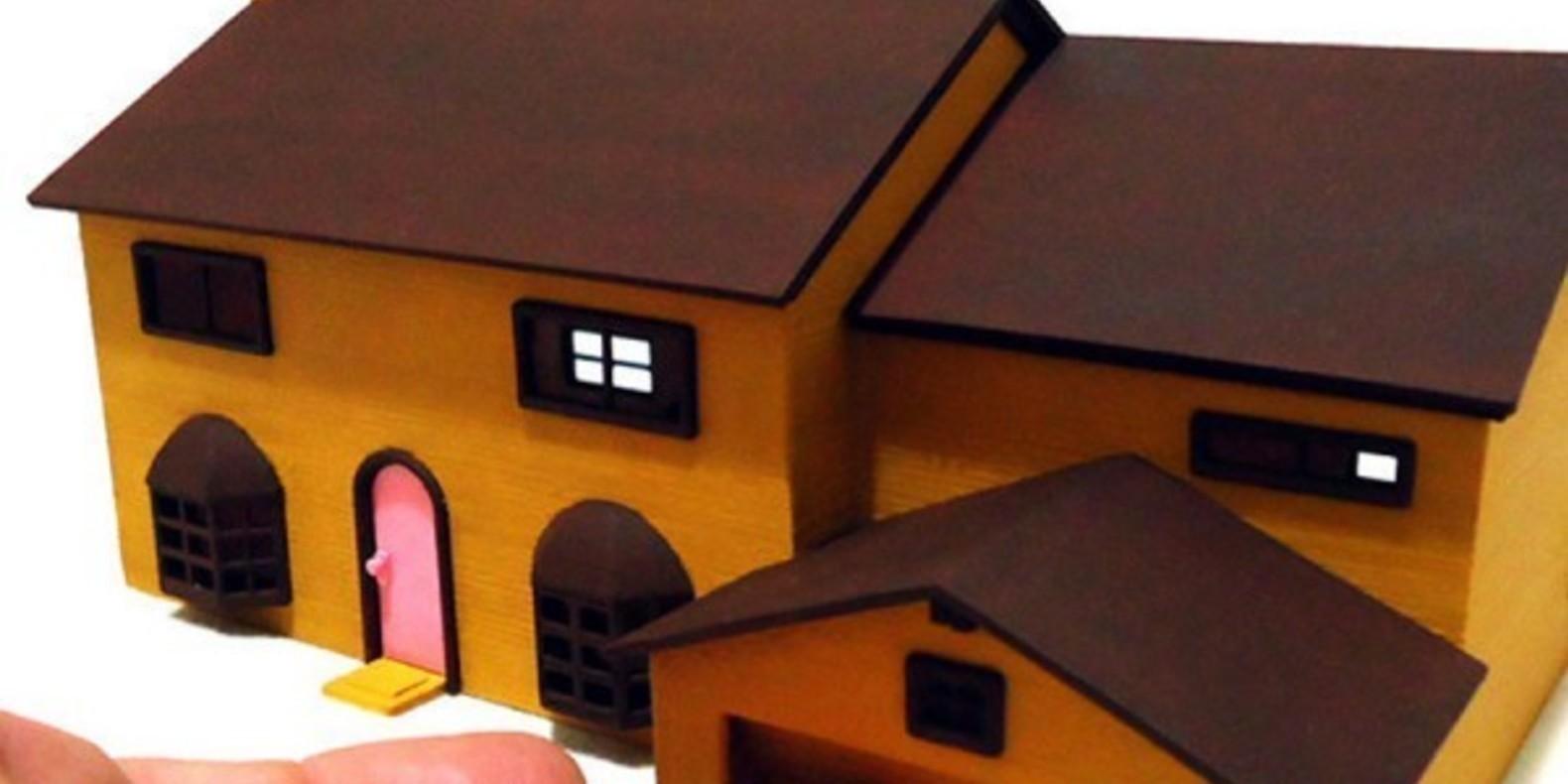 3D Printed Simpson House Cults 4 maison des Simpson