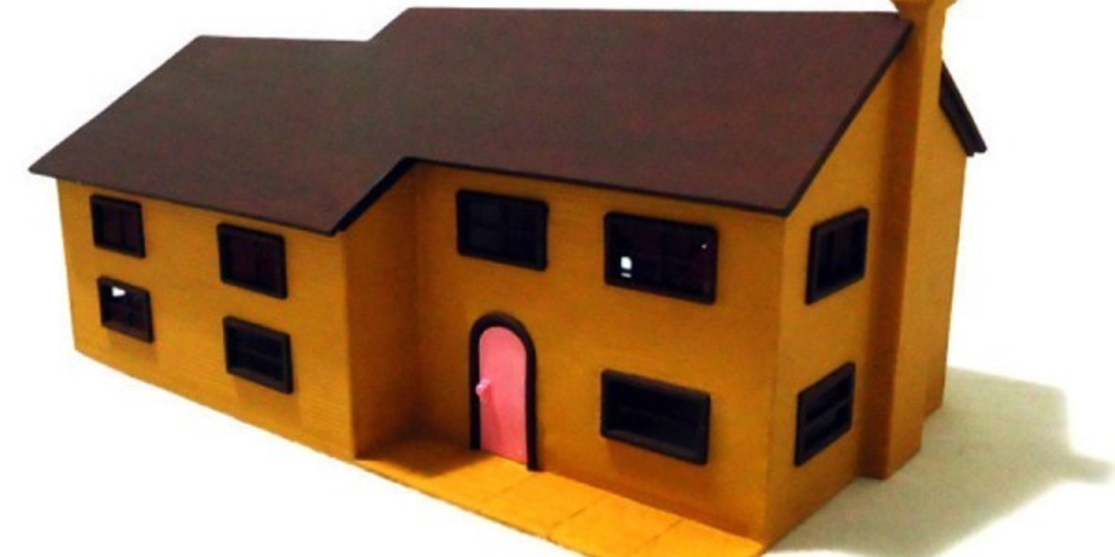 3D Printed Simpson House Cults 5 maison des Simpson