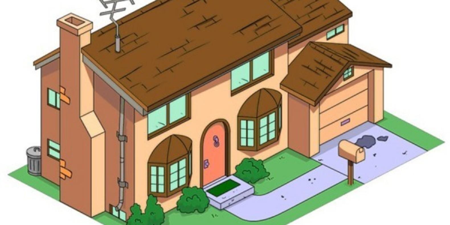 3D Printed Simpson House Cults 6 maison des Simpson