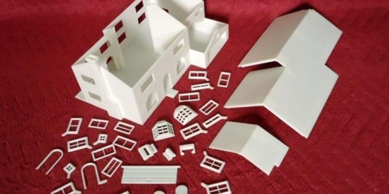 3D Printed Simpson House Cults 7 maison des Simpson