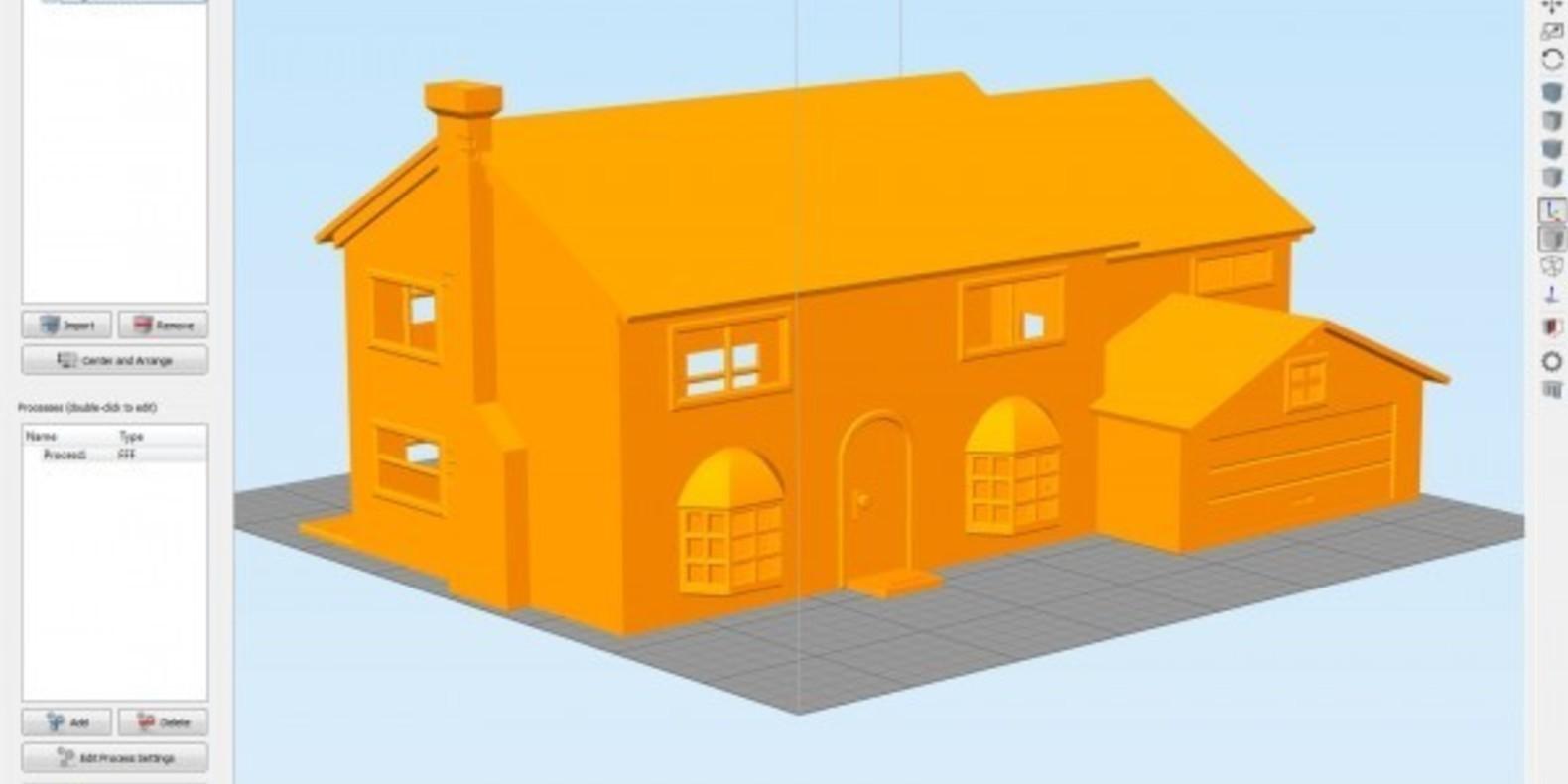 3D Printed Simpson House Cults 8 maison des Simpson