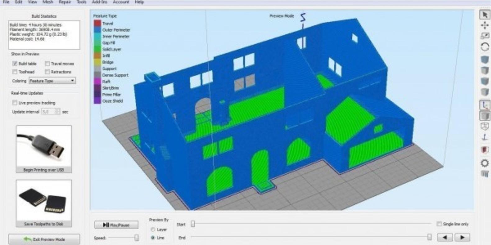 3D Printed Simpson House Cults 9 maison des Simpson