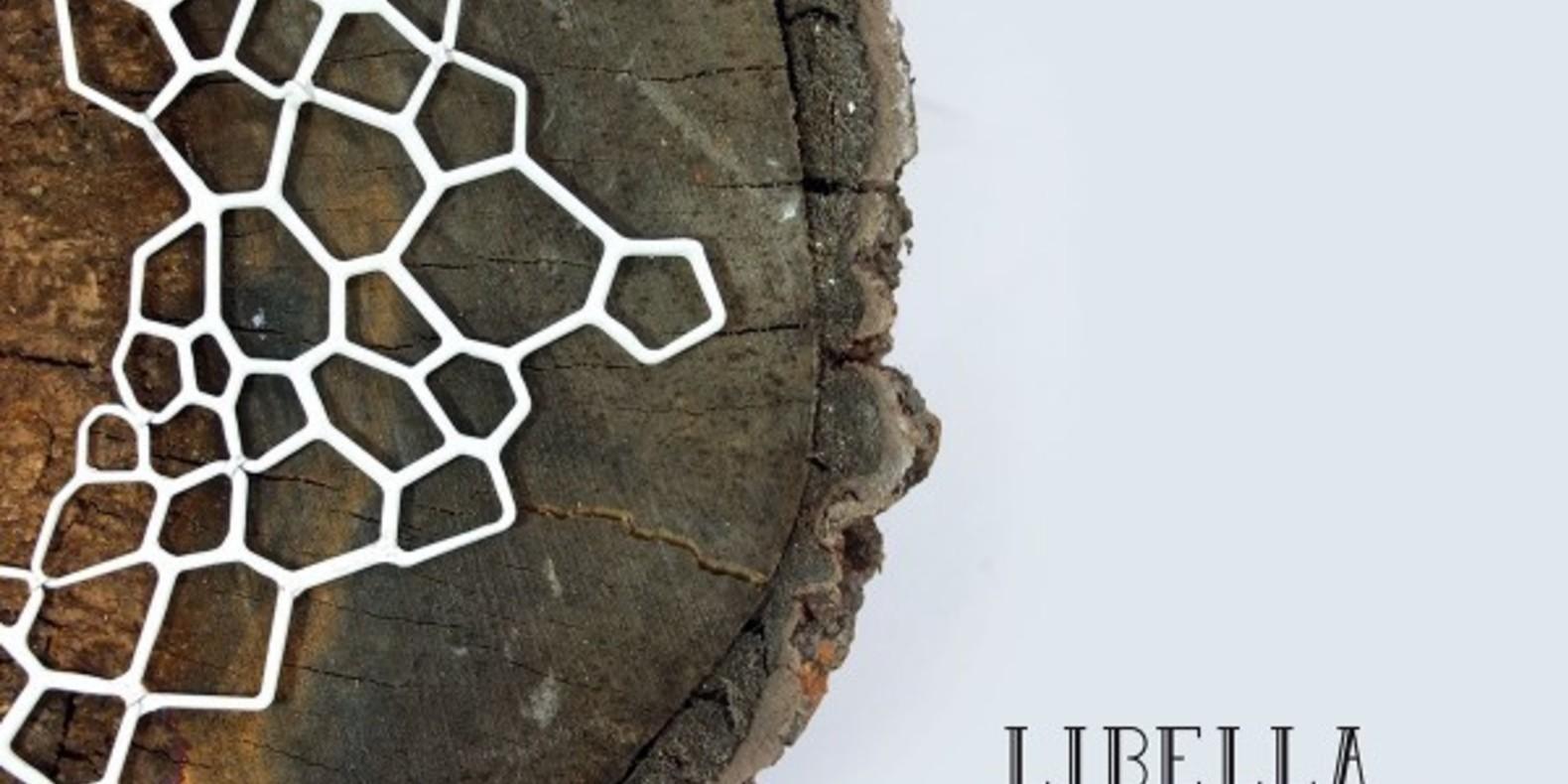 Libella necklace collier imprimé en 3D fichier STL cults 3D printed libellule Cecilia Palomino 2