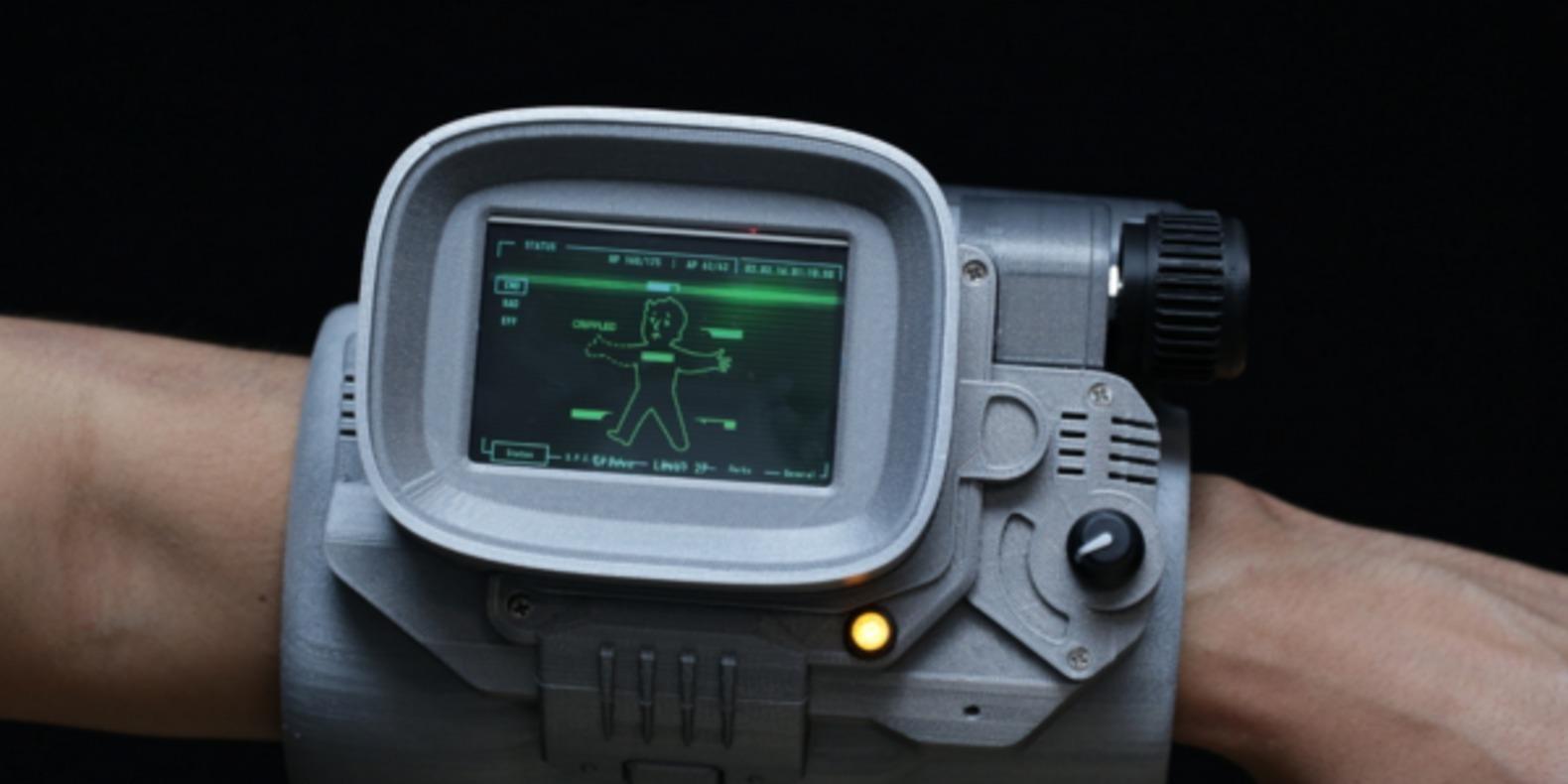 pip-boy fallout imprimé en 3D printed fichier 3D stl cults diy adafruit 1