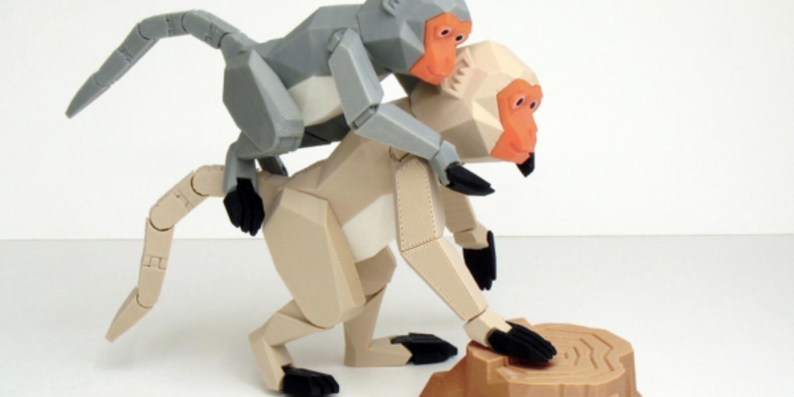 Formosan formose taiwan macaque singe chinese nouvel an chinois articulé imprimé en 3D cults STL gratuit 3