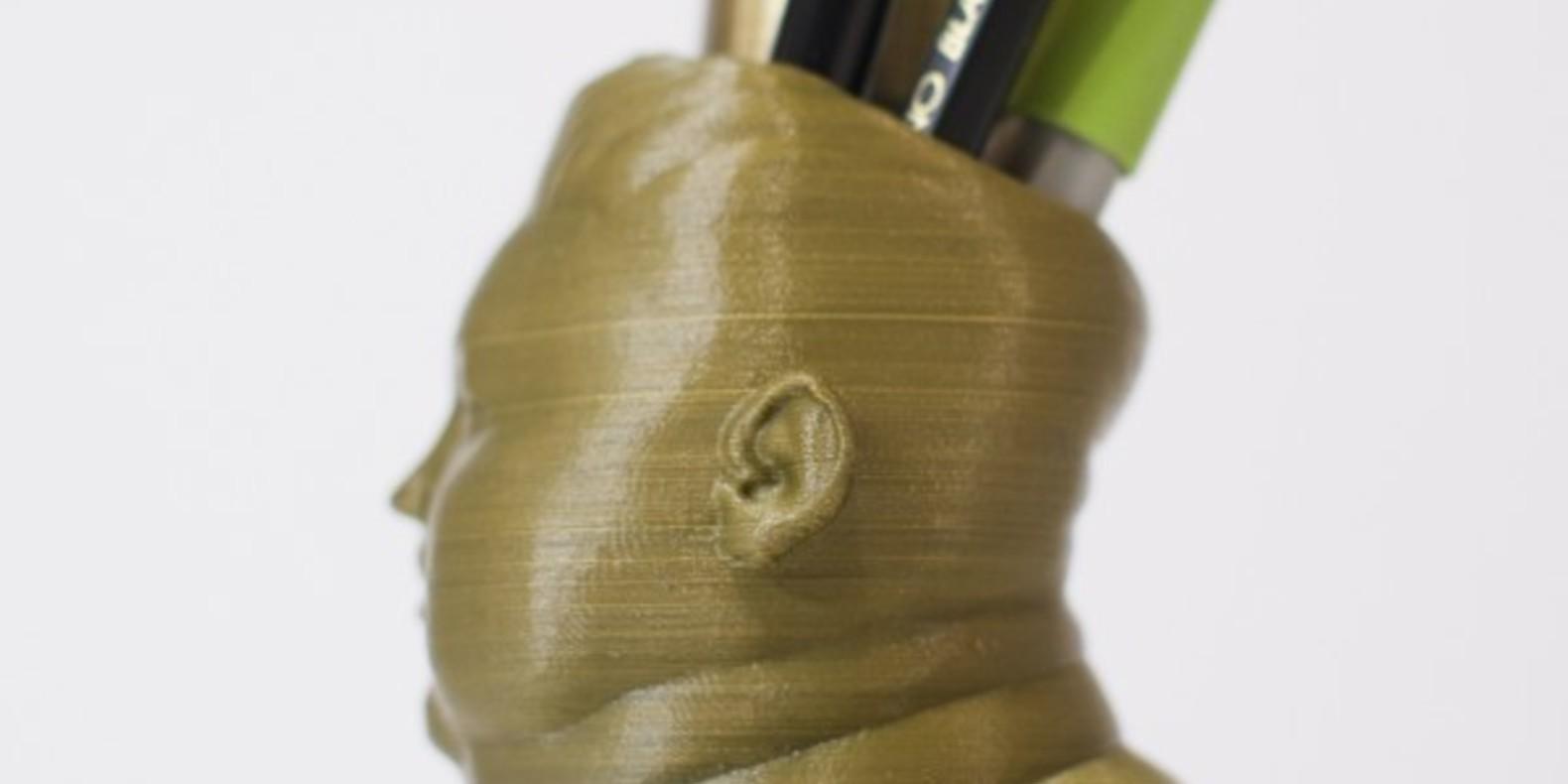 porte-crayon Kim Jong Un 3D printed bust pen porte crayon imprimé en 3D fichier 3D STL Cults