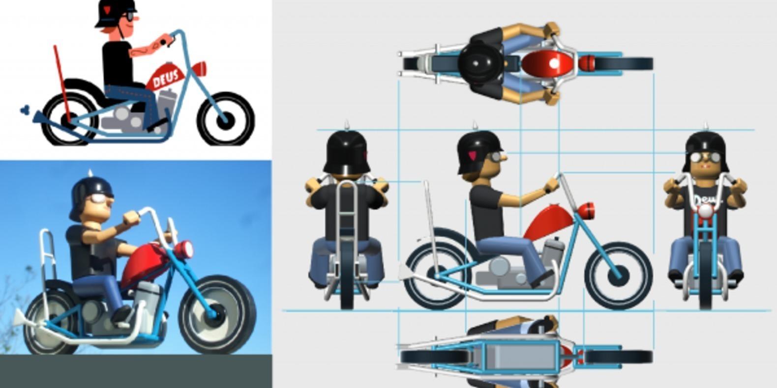 russell tate stay true motorcycle bike biker cults fichier 3D modèle 3D STL 3D printing 6