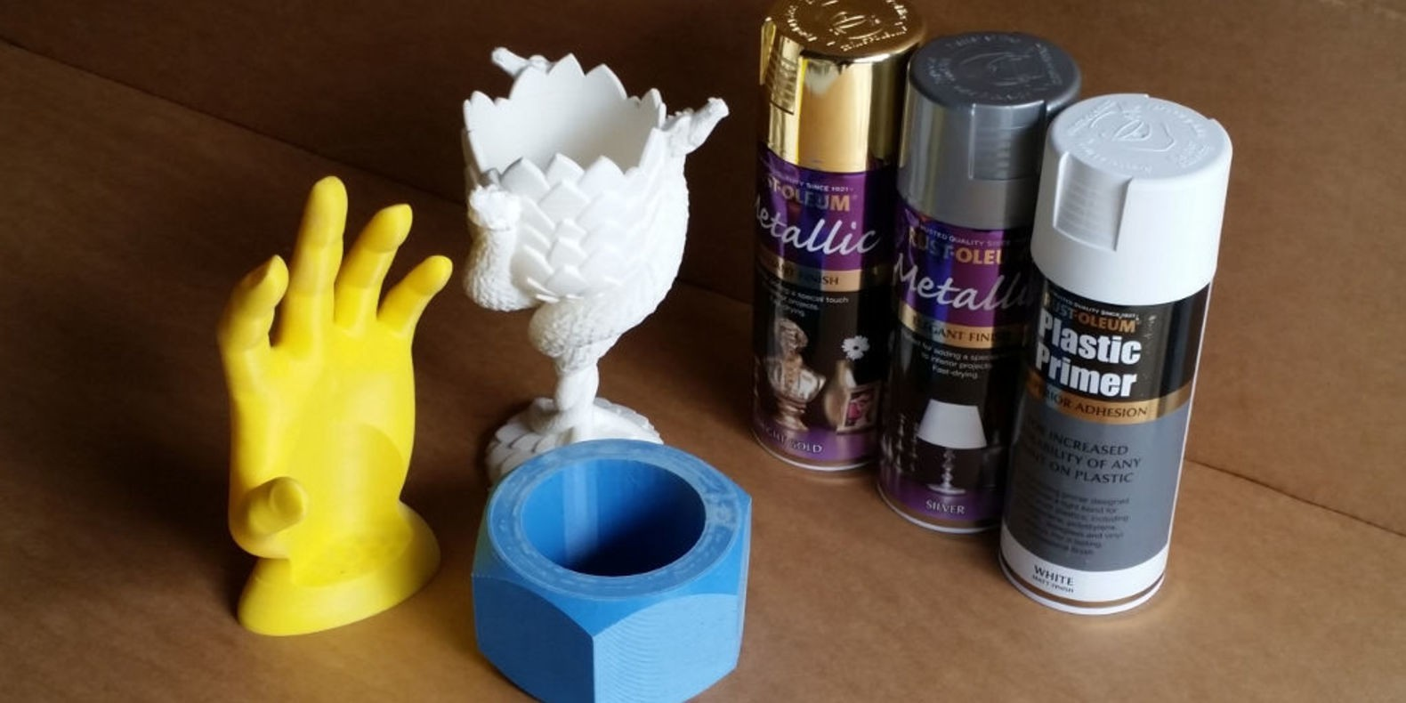 Painting your 3d printed objects
